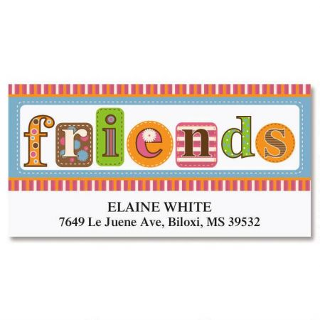 Friends Deluxe Address Labels