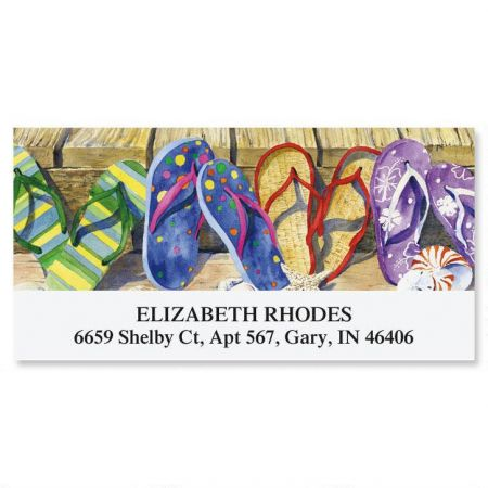 Summer Flip-Flops Deluxe Return Address Labels