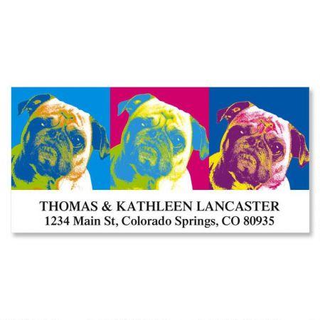 Pop Art Puppies Deluxe Return Address Labels