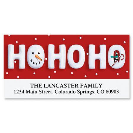 Ho Ho Ho Deluxe Return Address Labels