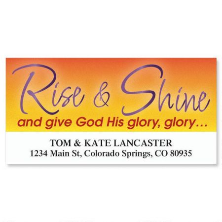 Rise and Shine Deluxe Return Address Labels
