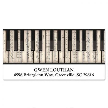 Music  Deluxe Return Address Labels