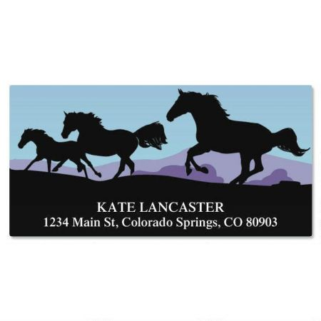 Horse Silhouette Deluxe Return Address Labels