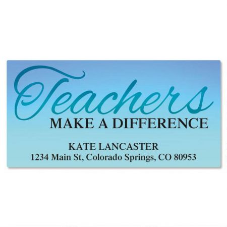 Teachers Deluxe Return Address Labels