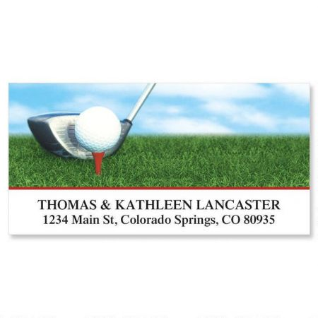 Golf Club Deluxe Return Address Labels