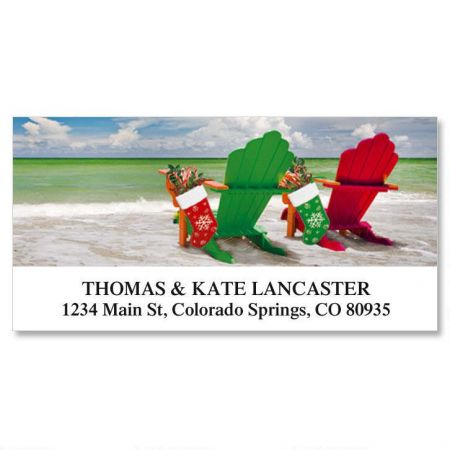 Holiday Adirondack Deluxe Return Address Labels