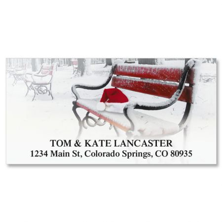 Santa Was Here Deluxe Return Address Labels