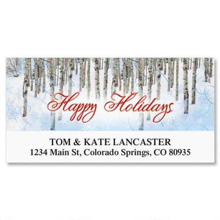 Aspens in Snow Deluxe Address Labels