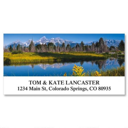 Grand Teton Dallo Sanke River Deluxe Return Address Labels