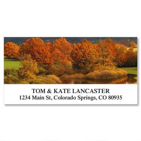 Colors of Autumn Deluxe Return Address Labels