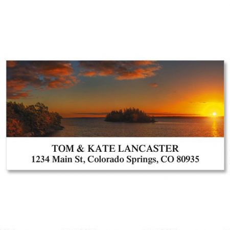 Autumn Sunset Deluxe Return Address Labels