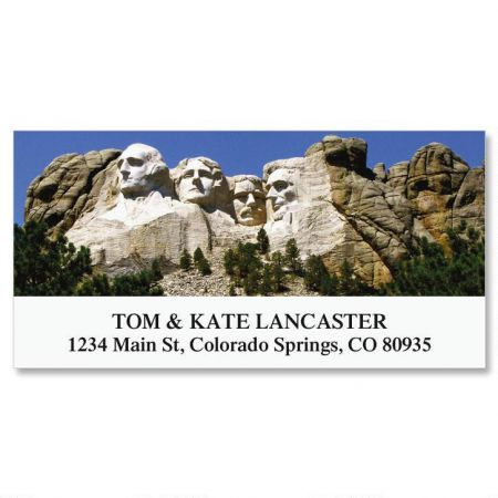 Mount Rushmore Deluxe Return Address Labels