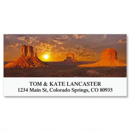 Monument Valley Deluxe Return Address Labels
