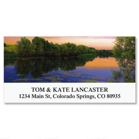 Sunset On Lake Deluxe Address Labels