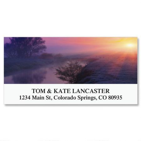 Colorful Dawn Deluxe Return Address Labels