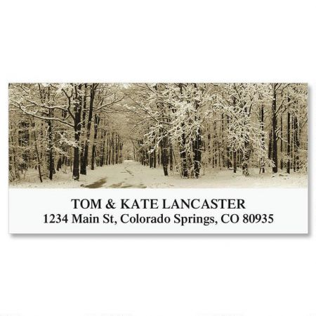 Winter Forest Deluxe Return Address Labels