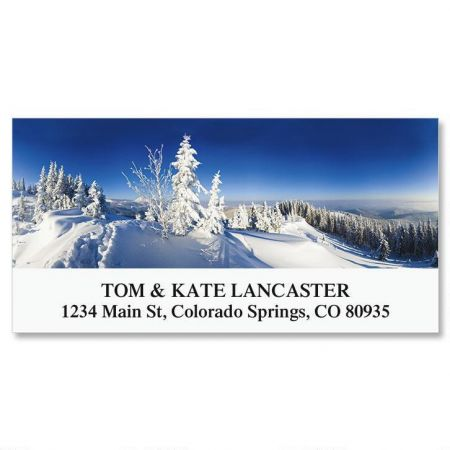 Winter Mountain Deluxe Address Labels