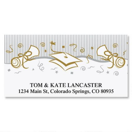 Graduation Party Deluxe Return Address Labels