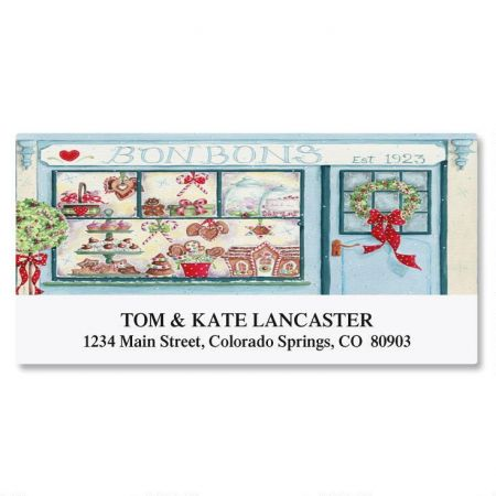 Holiday Window Deluxe Return Address Labels