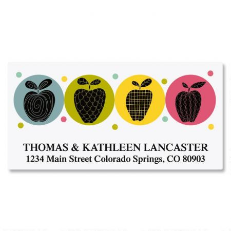 Geometric Apples Deluxe Return Address Labels