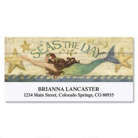 Seas The Day Deluxe Return Address Labels