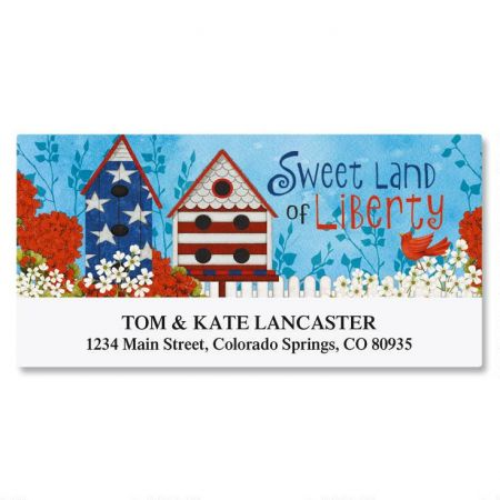 Land of Liberty Deluxe Return Address Labels