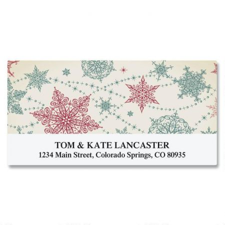 Lace Snowflakes Deluxe Return Address Labels