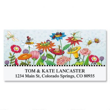 Mary's Garden of Bloom Deluxe Return Address Labels
