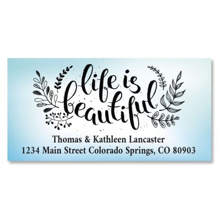 Life Is Beautiful Deluxe Return Address Labels