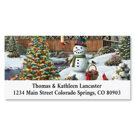 Countryside Christmas Deluxe Address Labels