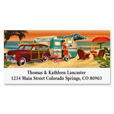 Coastal Camping Deluxe Return Address Labels