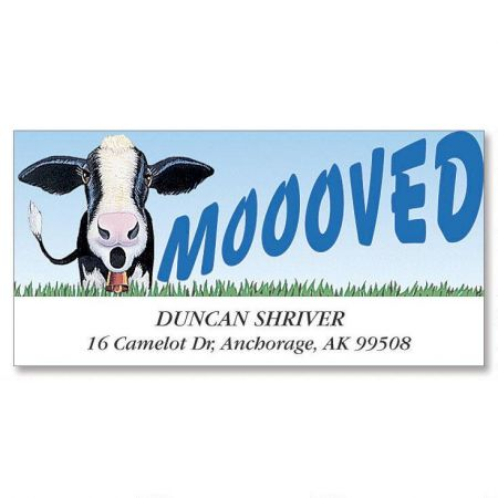 Moooved Deluxe Return Address Labels