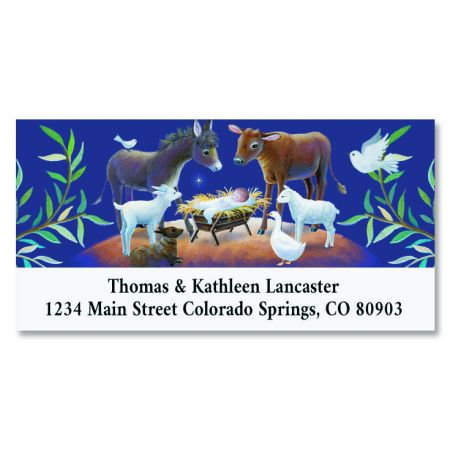 Blue Manger Deluxe Return Address Labels