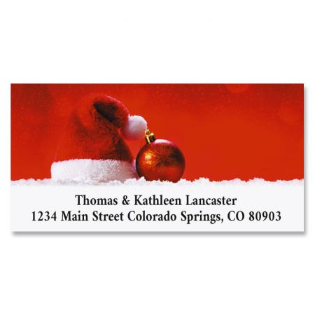 Christmas Hat Deluxe Return Address Labels