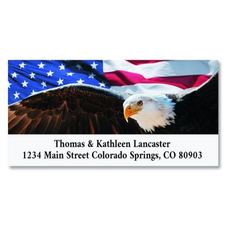 Patriotic Eagle Deluxe Return Address Labels