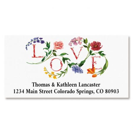 Love Botanical Deluxe Address Labels
