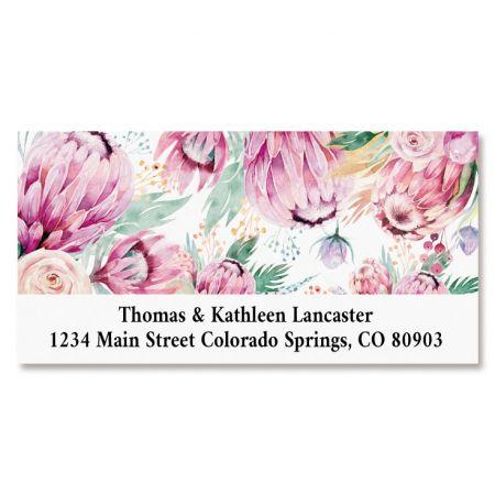 Boho Bouquet Deluxe Address Labels