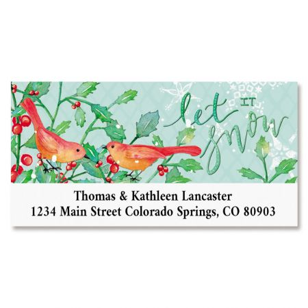 Let It Snow Deluxe Return Address Labels