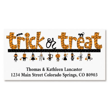 Trick or Treat Deluxe Return Address Labels