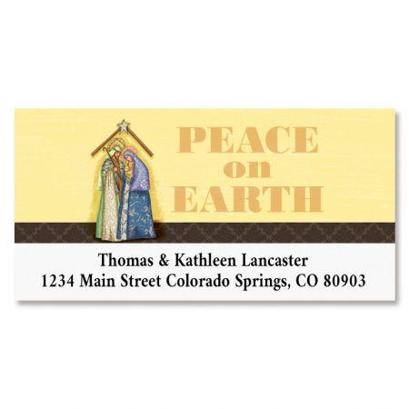 Nativity  Deluxe Return Address Label