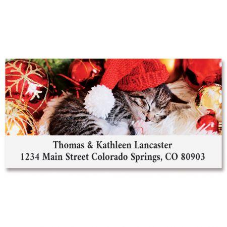 Cozy Kitten Deluxe Return Address Labels
