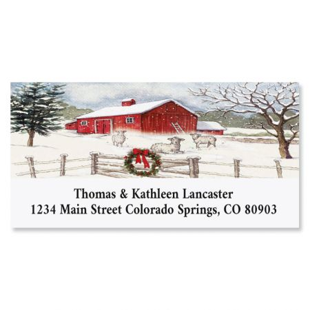 Country Barn Deluxe Return Address Labels