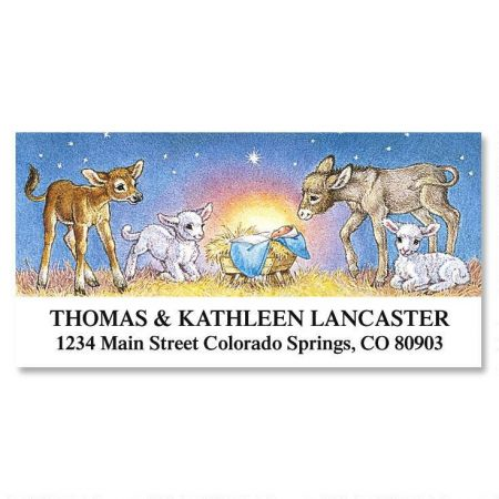 Away in a Manger Deluxe Address Labels