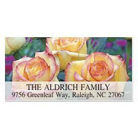 Trio of Roses Deluxe Return Address Labels