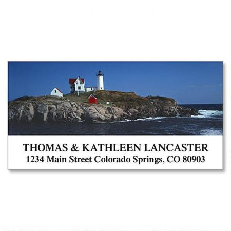 Lighthouse At York Deluxe Return Address Labels
