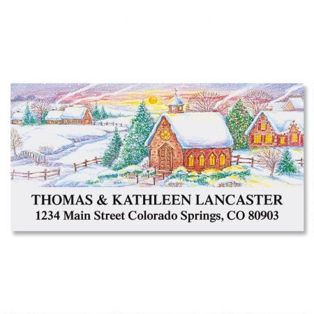 Country Christmas  Deluxe Address Labels