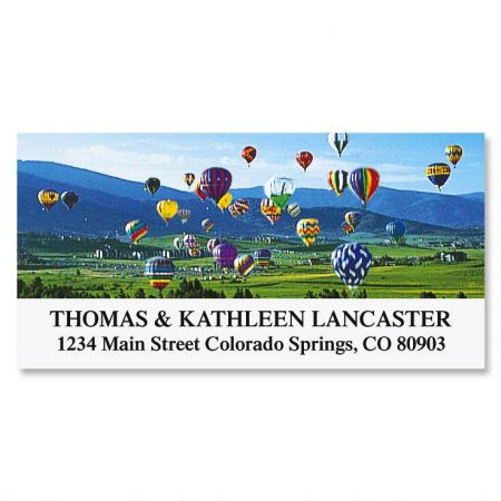 Up, Up & Away  Deluxe Return Address Labels
