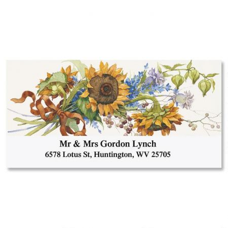 Sandi's Sunflowers  Deluxe Return Address Labels