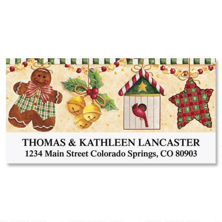 Vicky's Gingerbread Christmas Deluxe Return Address Labels