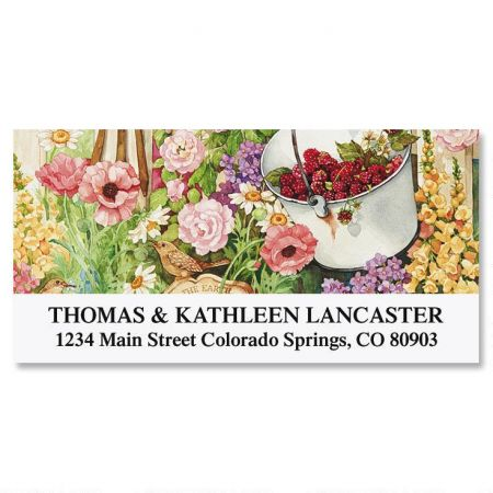 Sandi's Garden Glory Deluxe Return Address Labels